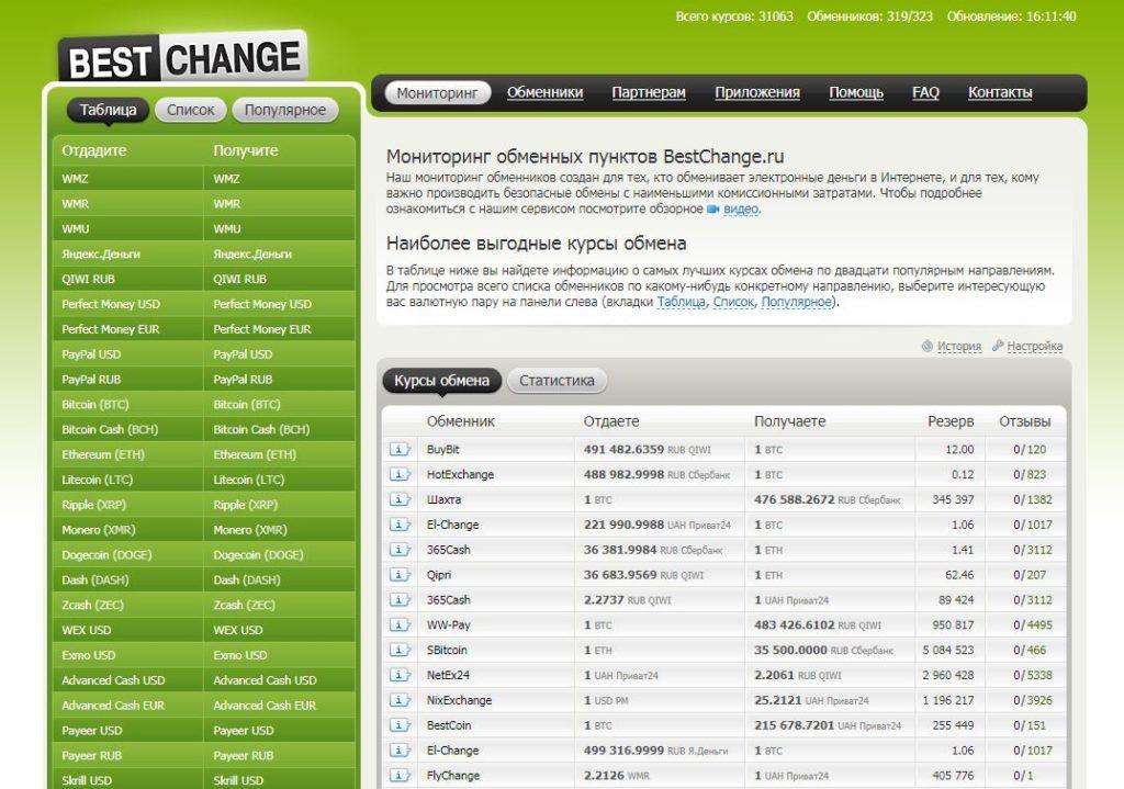 Сервис онлайн-обмена
